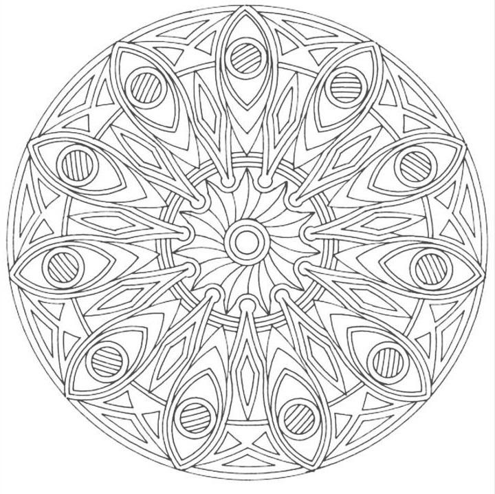 Мандала сложная схема