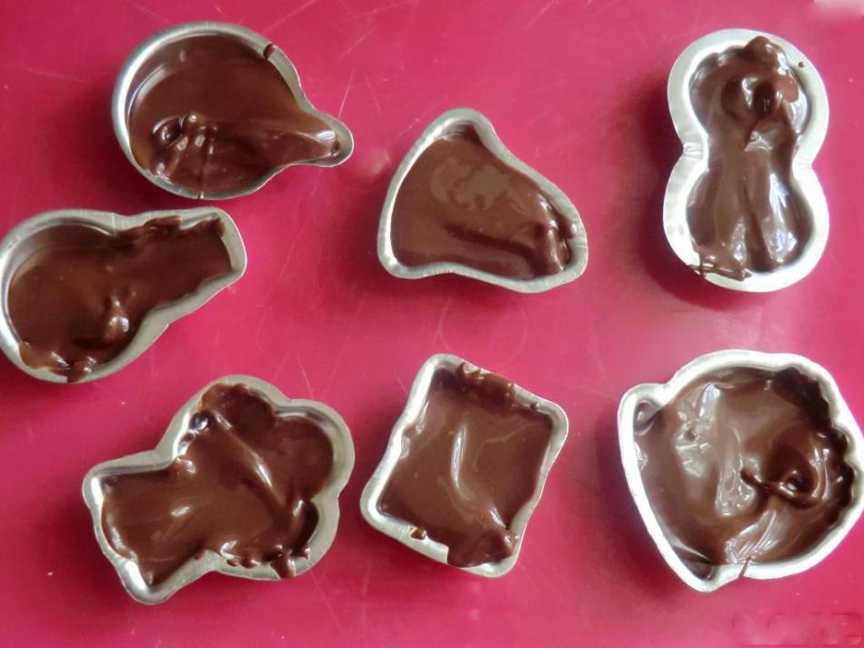 Как сделать форму из шоколада