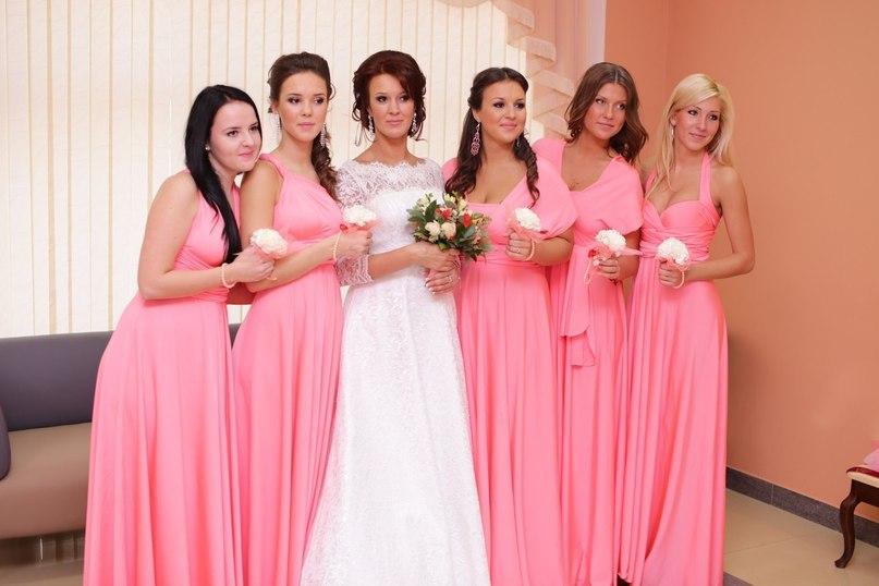 Платья трансформеры розовый