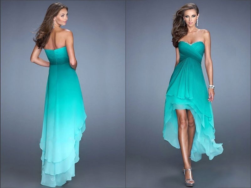 Фото выпускных платьев спереди короткие а сзади длинные
