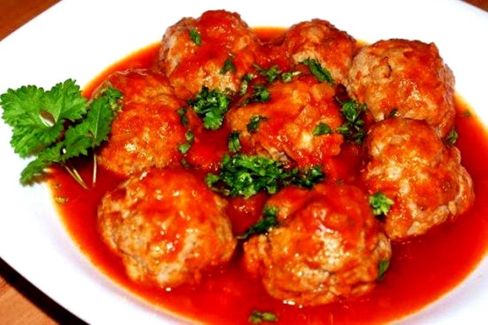 тефтели в духовке в томатном соусе пошаговый рецепт