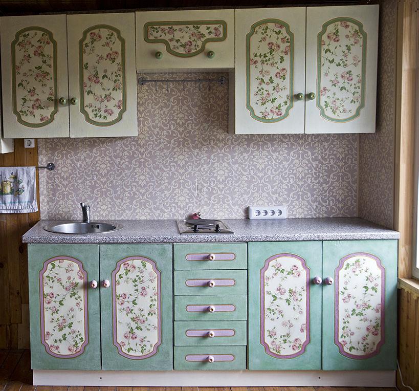 Декупаж кухонный гарнитур своими руками фото 596