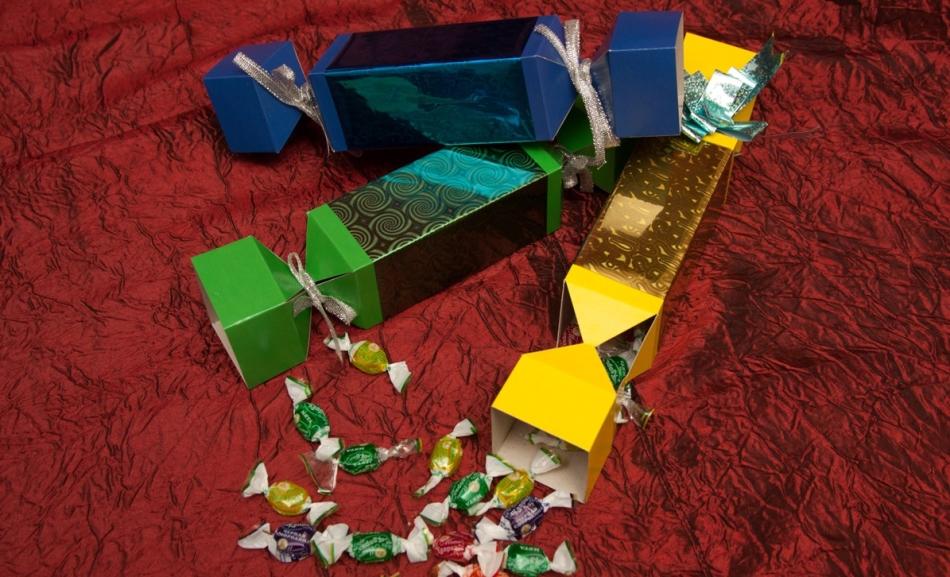 Вот так в итоге выглядят упаковки для конфет в виде конфет