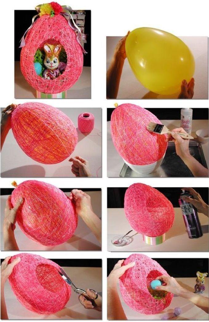 Как сделать шар из ниток и клея пва