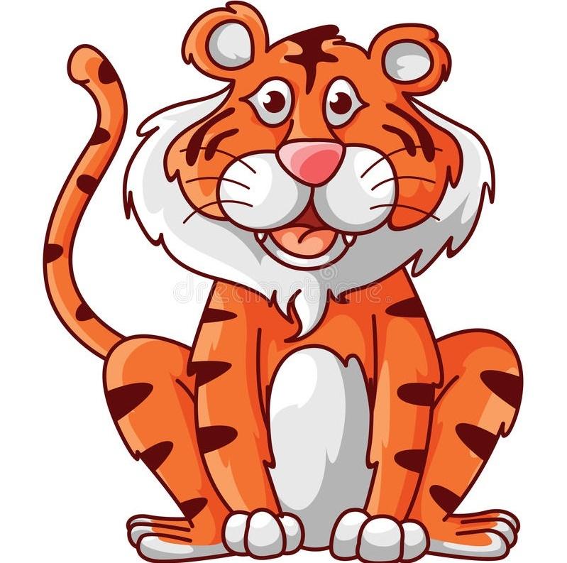 Трафарет тигра для гирлянды