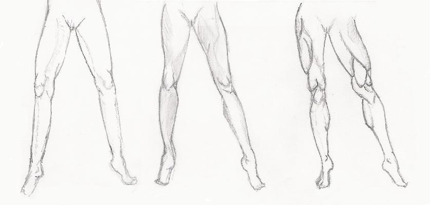 Нарисовать карандашом ноги девушки