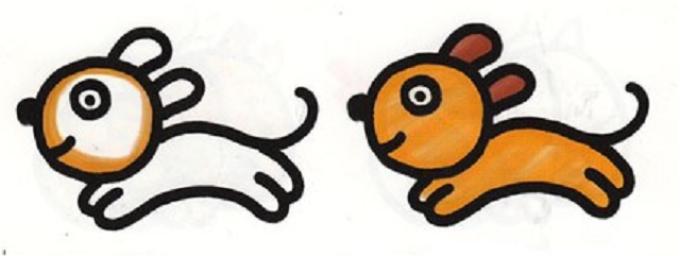Поэтапное рисование собаки для самых маленьких: шаг 5