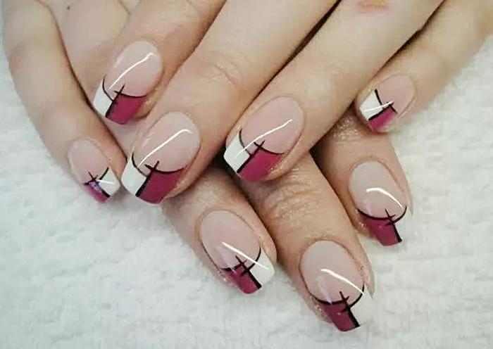 Дизайн ногтей френч модный