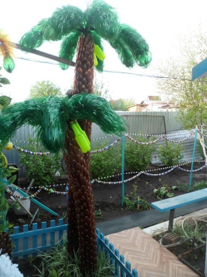 Пальмы из пластиковых бутылок пошагово