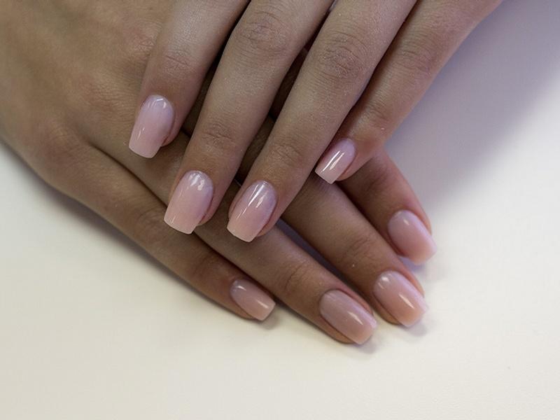 Фото наращивания ногтей под лак