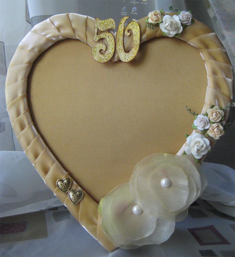 Подарки на золотую свадьбу бабушке и дедушке фото