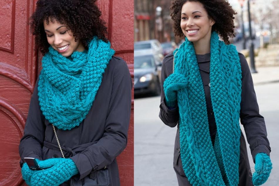 Как вязать на шею шарф