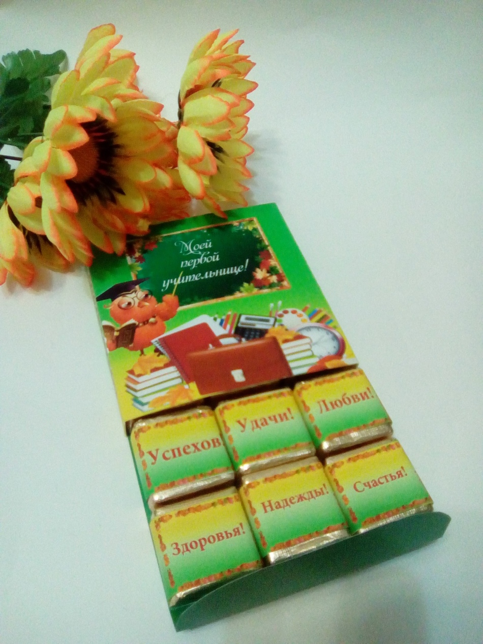 Подарки ко дню учителя с конфетами 222