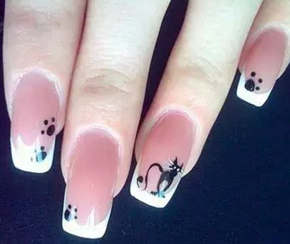 Дизайн ногтей фото с кошками