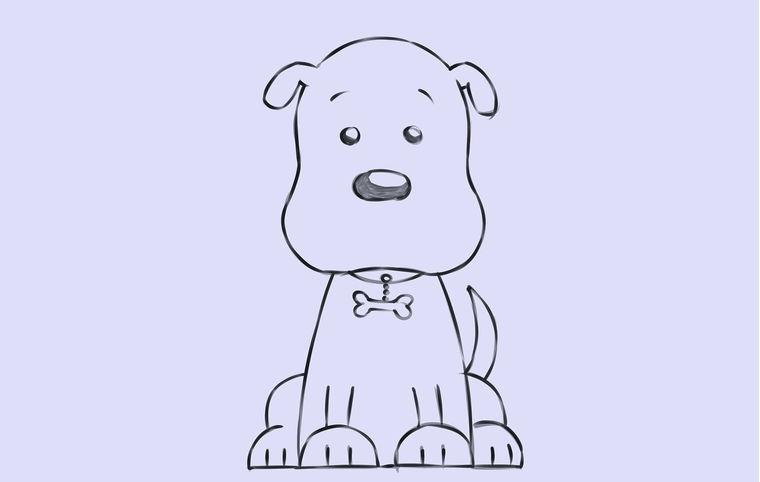 С рисунком собак