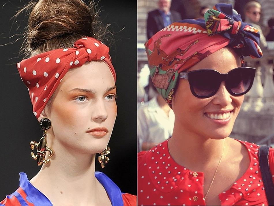 Как красиво завязать пляжный платок на голове?