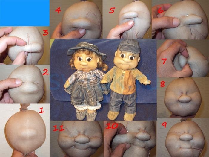 Куклы из колготок своими руками мастер класс на пластиковой бутылке