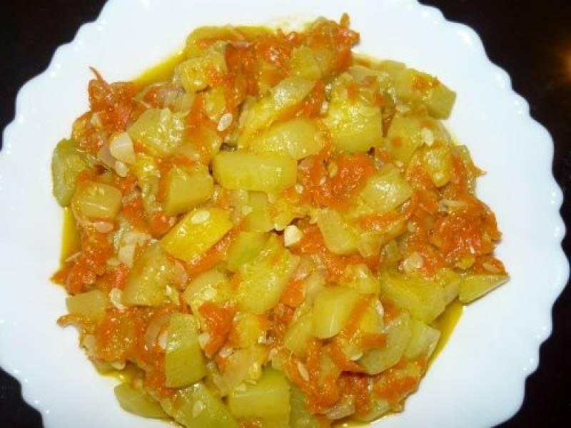 Калорийность кабачков тушеных с морковью