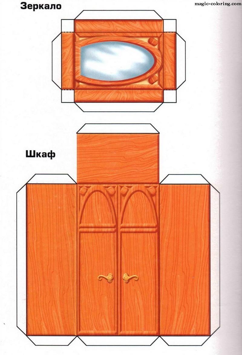 Шкафы из картона своими руками схемы рисунки