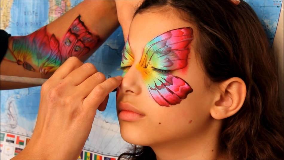 Аквагрим схемы бабочек