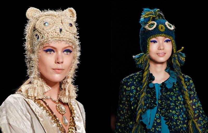 Оригинальные вязаные головные уборы для женщин