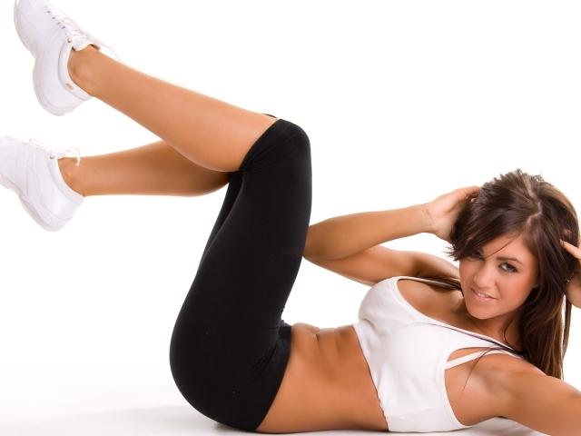 7 упражнений для похудения живота видео