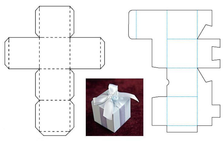 Шаблон коробка для подарка своими руками
