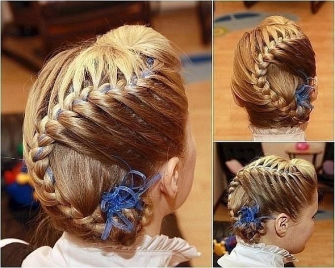 Косы детские на длинные волосы