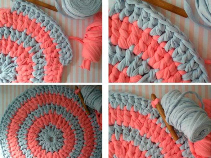Вязание для начинающих спицами коврика