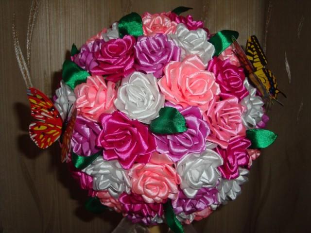 Цветы из лент своими руками - мастер-класс по созданию