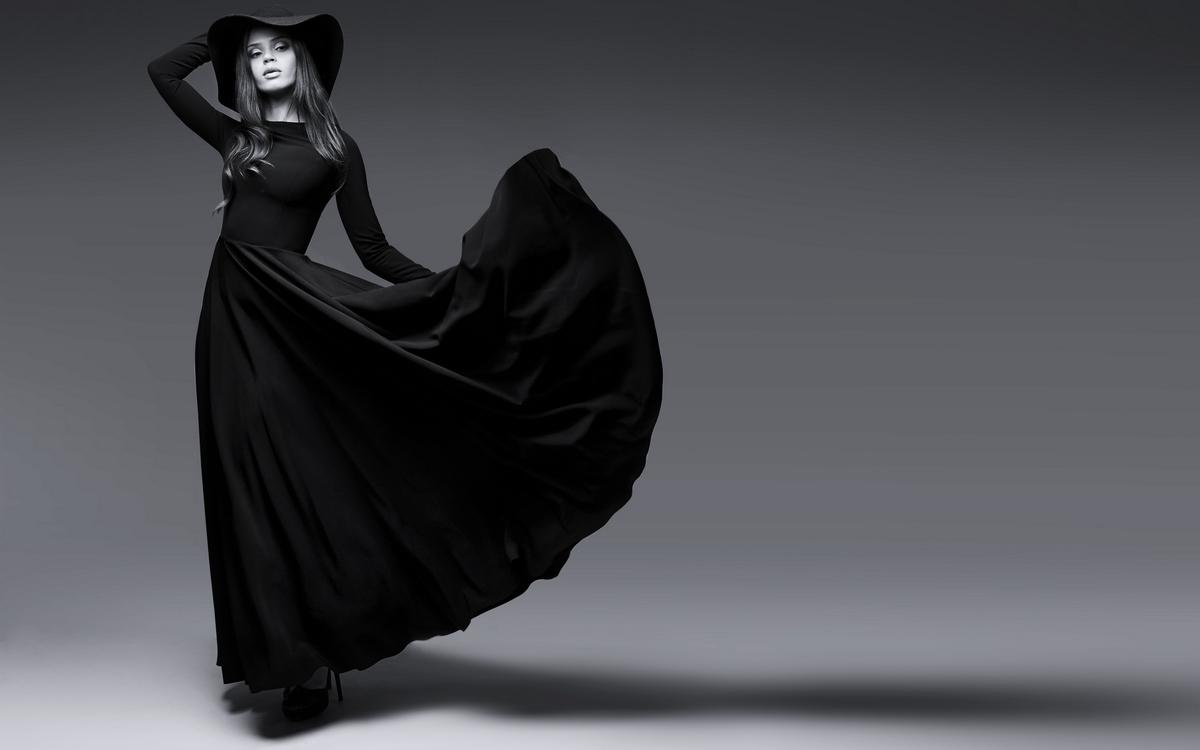 Чем накрахмалить черное платье