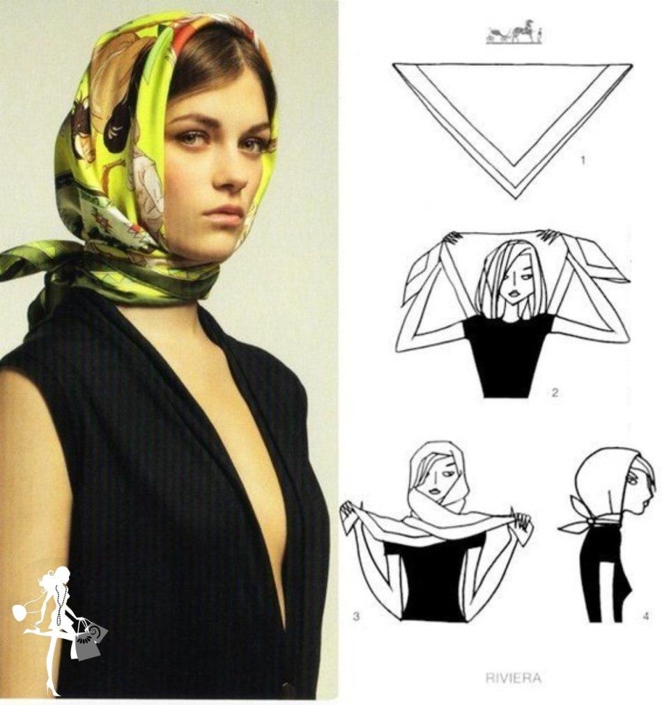 Как сделать платок фото