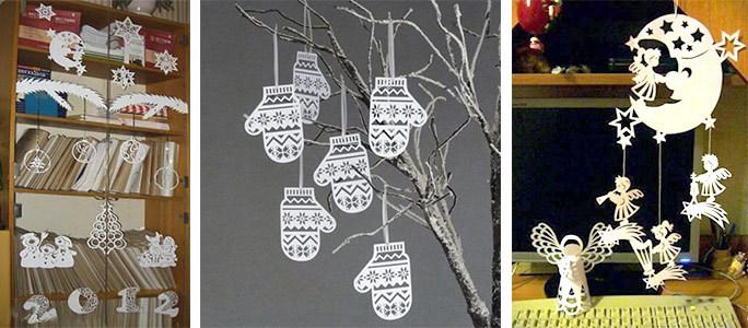 Новогодние украшения на окна из бумаги как сделать