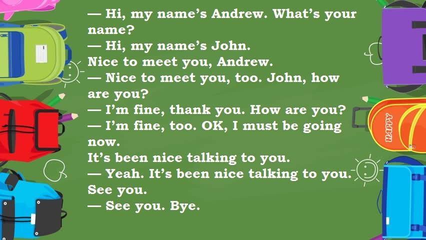 Диалог с английский переводом знакомства