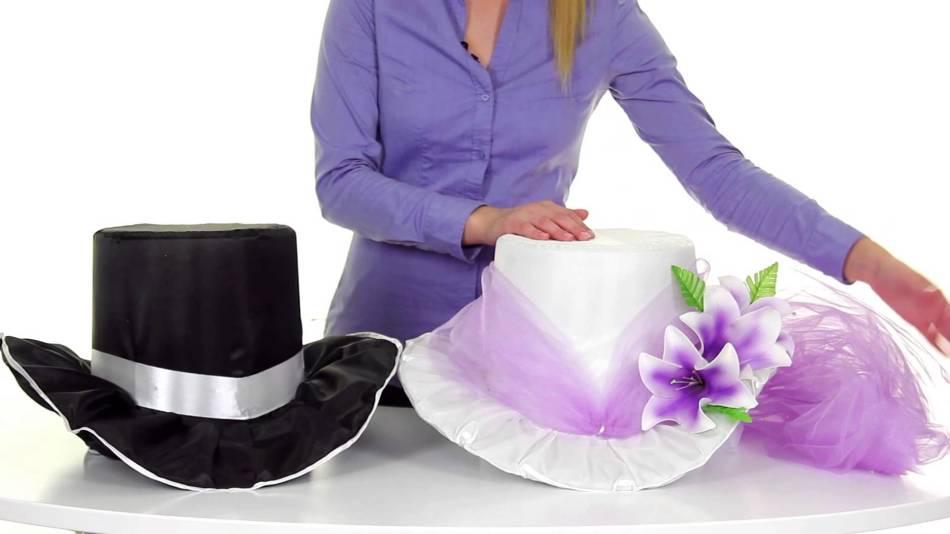 Украшение на крышу свадебной машины своими руками - шляпы