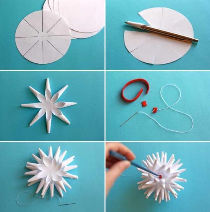 Снежинки из бумаги своими руками инструкция