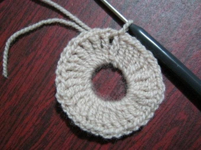 Салфетка крючком, соединение петель