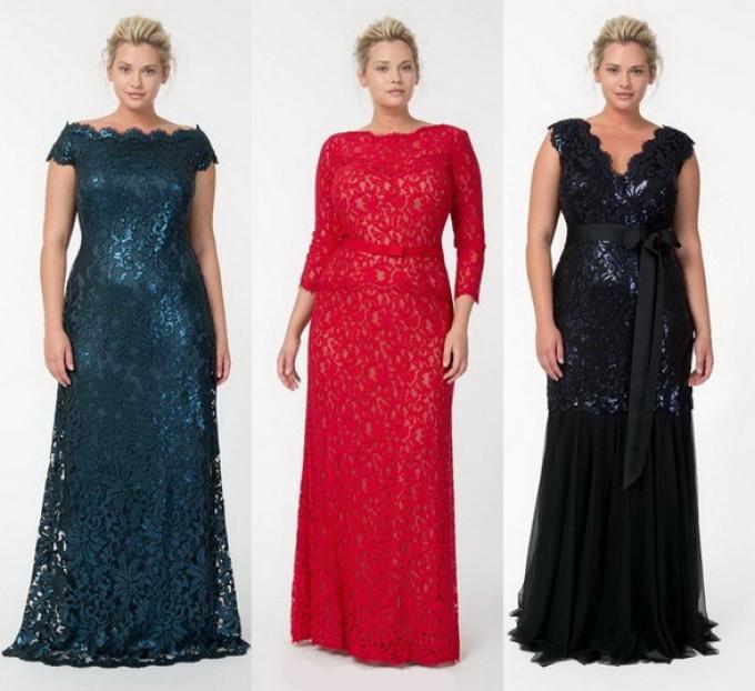 Вечерние длинные платья для полных девушек