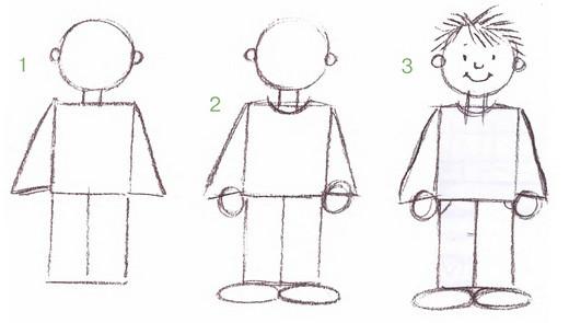 Как рисовать пятилетнего ребенка
