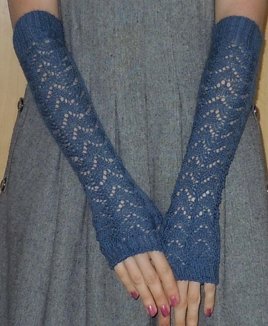 схема вязания длинных перчаток без пальцев