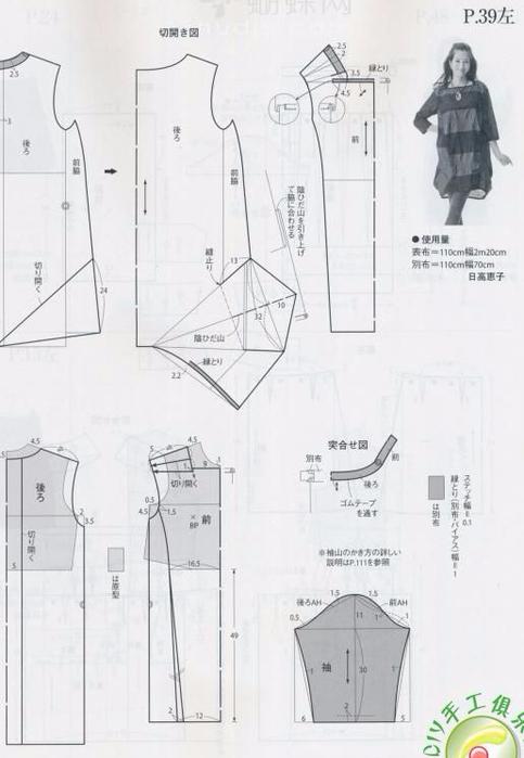 Выкройка платья бохо в русском стиле