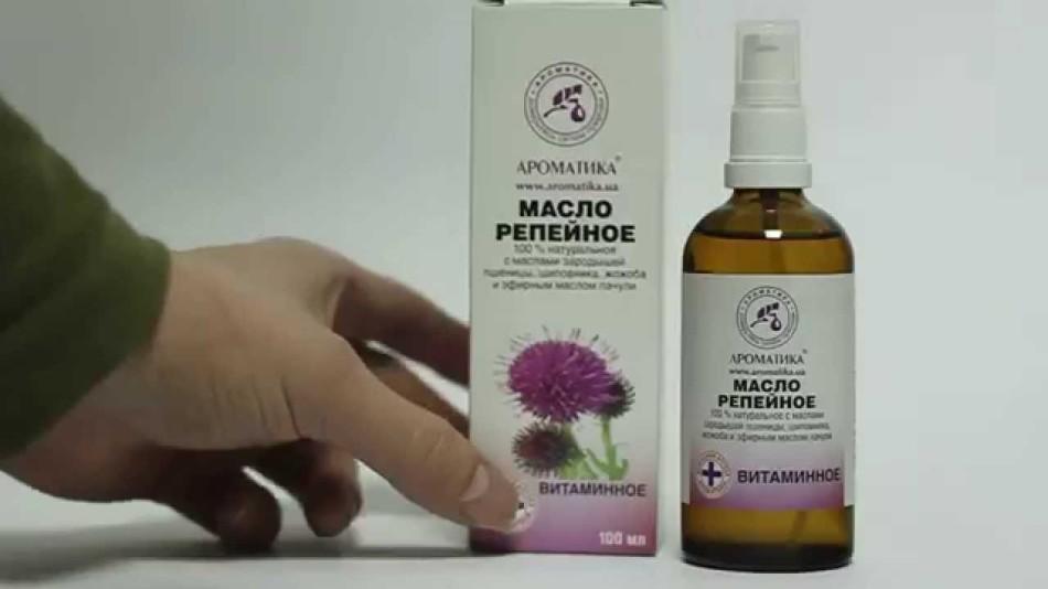 Репейное масло значительно улучшает состояние волос и насыщает кожу головы питательными веществами
