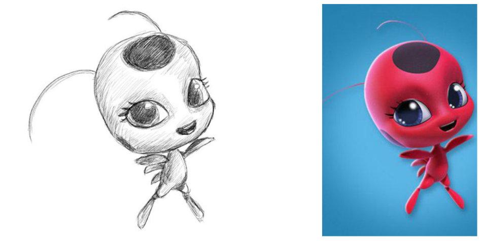 Учим рисовать Леди Баг из «Леди Баг и Супер Кот» поэтапно