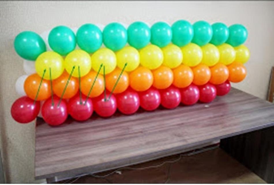 Радуга из шаров своими руками пошаговая 88