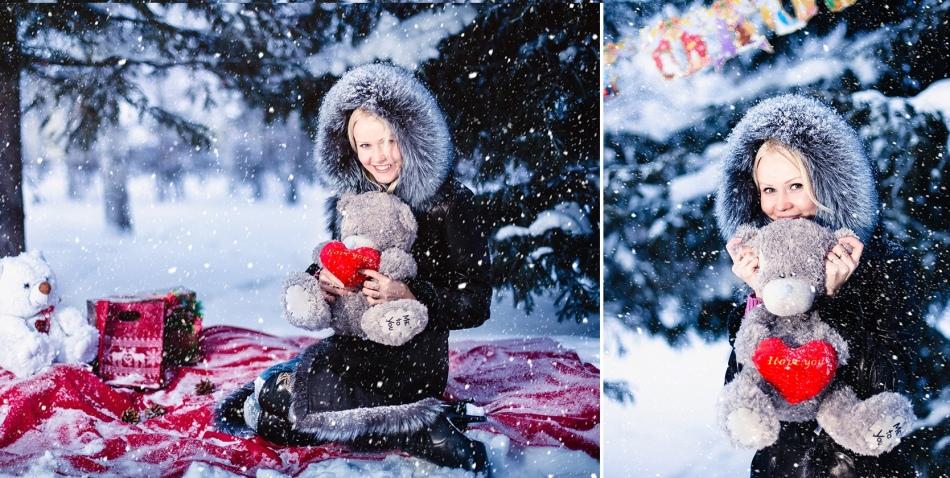 Фотография в снегу