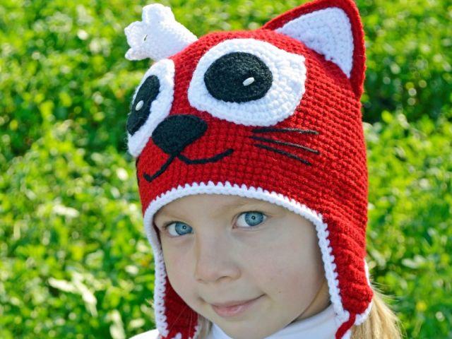 шапочка на девочку с ушками схемы