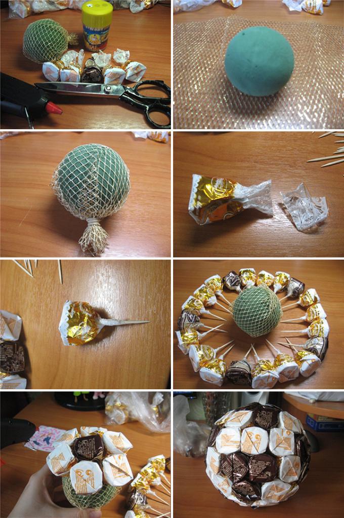 Какой подарок можно сделать из конфетах 21
