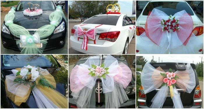 Варианты украшения капота свадебной машины своими руками