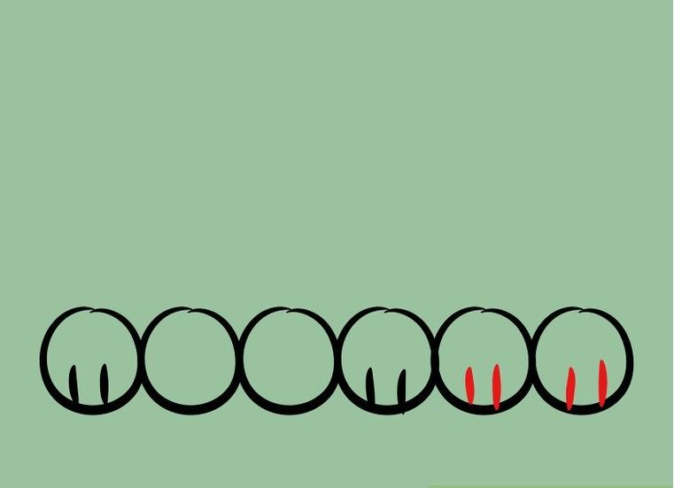Как нарисовать лежащего щенка: шаг 2