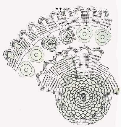 Красивая ажурная салфетка крючком, схема